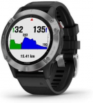 Uhren Garmin Garmin fenix6 Glass, Silver/Black Band