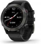 Garmin fenix6 Sapphire, Gray/Black Band (MAP/Music)