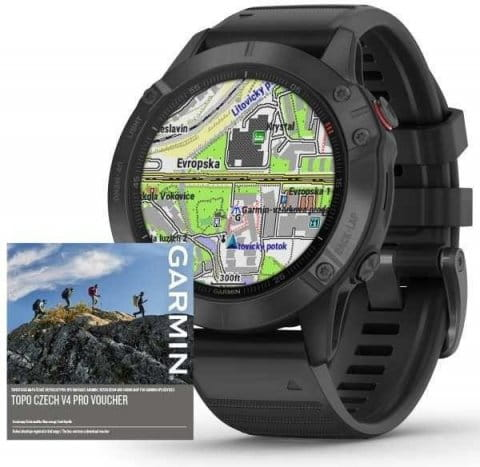 Garmin fenix6 PRO Glass, Black/Black Band (MAP/Music)