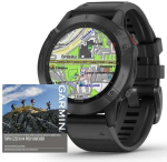 Montre Garmin Garmin fenix6 PRO Glass, Black/Black Band (MAP/Music)