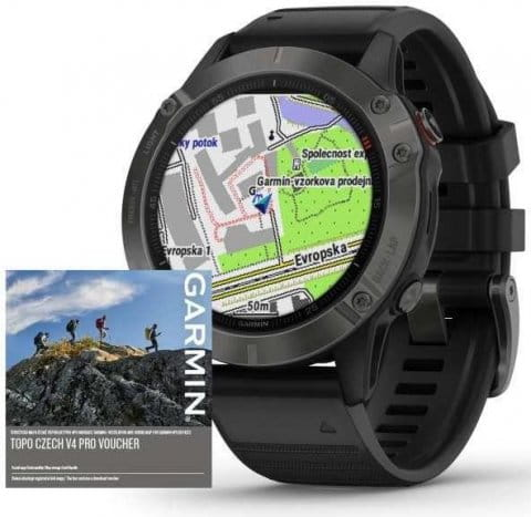 Garmin fenix6 PRO Sapphire Gray/Black Band (MAP/Music)