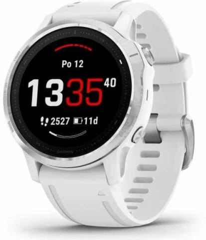 Uhren Garmin Garmin fenix6S Glass, Silver/White Band