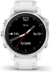 Orologi Garmin Garmin fenix6S Glass, Silver/White Band