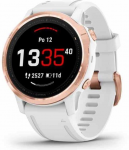 Garmin fenix6S Glass, RoseGold/White Band (MAP/Music)
