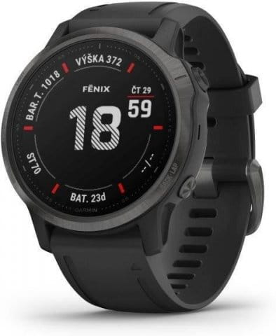 Reloj Garmin Garmin fenix6S Sapphire, Gray/Black Band (MAP/Music)