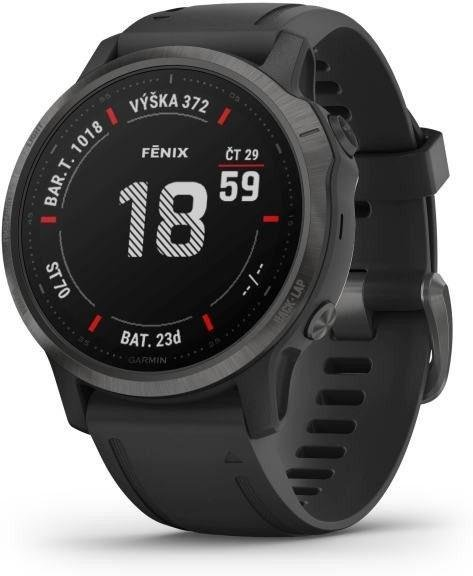 Uhren Garmin Garmin fenix6S Sapphire, Gray/Black Band (MAP/Music)