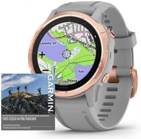 Montre Garmin Garmin fenix6S PRO Sapphire RoseGold/Gray Band (MAP/Music)