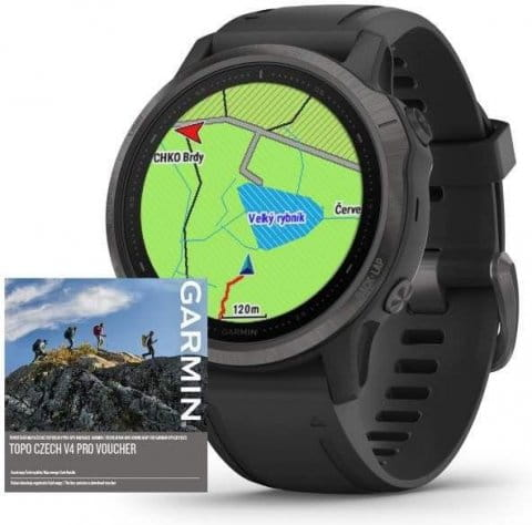 Uhren Garmin Garmin fenix6S PRO Sapphire Gray/Black Band (MAP/Music)
