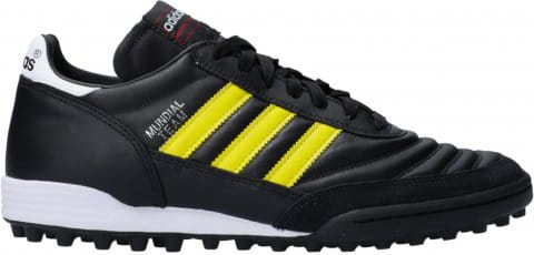 adidas Mundial Team TF Yellow Stripes Schwarz Futballcipő