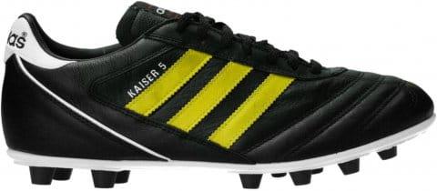 adidas Kaiser 5 Liga FG Yellow Stripes Schwarz Futballcipő