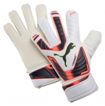 Brankářské rukavice Puma evoPOWER Grip 3 RC white-fluro peach-omb