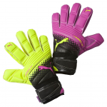 Brankářské rukavice Puma evoPOWER Grip 2.3 RC pink glo-safety yel