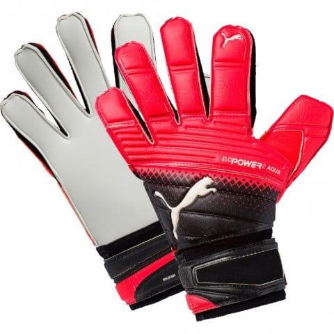 Brankárske rukavice Puma evoPOWER Grip 2.3 AQUA Black-Red Bl