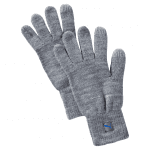 Big Cat Knit Gloves Light Gray Heat