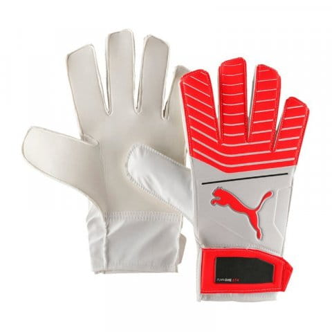 Brankářské rukavice Puma One Grip 17.4 White-Red Blast-