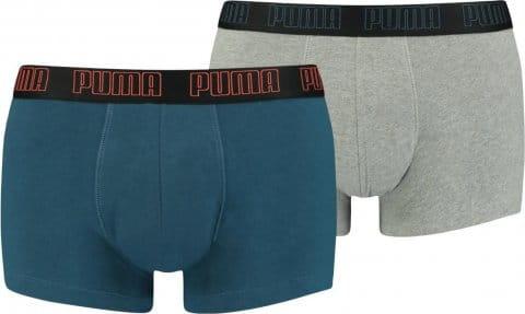 Puma Basic Trunk Boxer 2er Pack Blau Grau F027 Boxeralsók