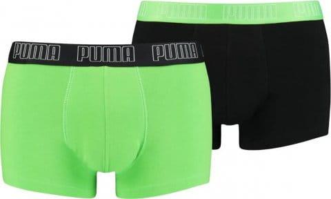 Puma Basic Trunk Boxer 2er Pack Grün Schwarz F030 Boxeralsók