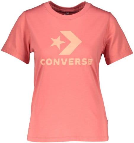 Camiseta Converse Converse Star Chevron Damen T-Shirt Pink F664