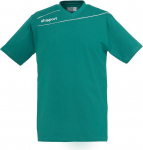 Magliette Uhlsport uhlsport stream 3.0 cotton t-shirt turquoise