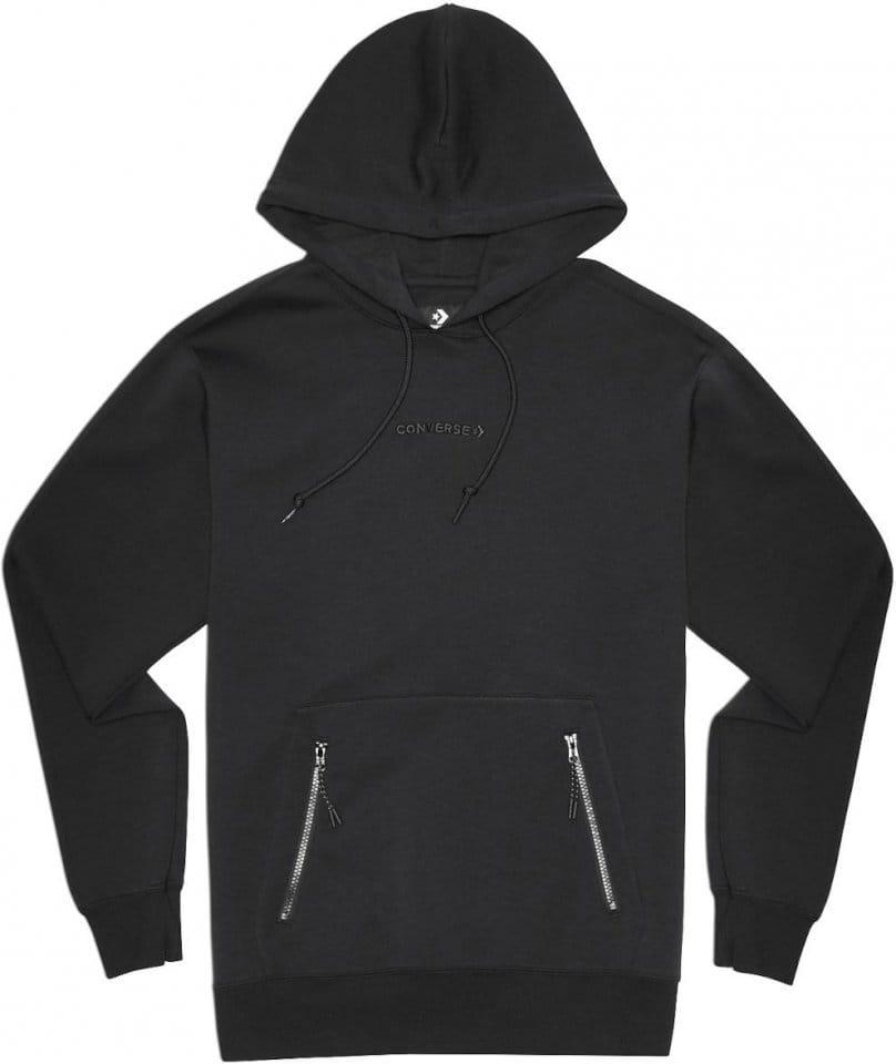 Sweatshirt met capuchon Converse Converse Court Hoody Schwarz F001