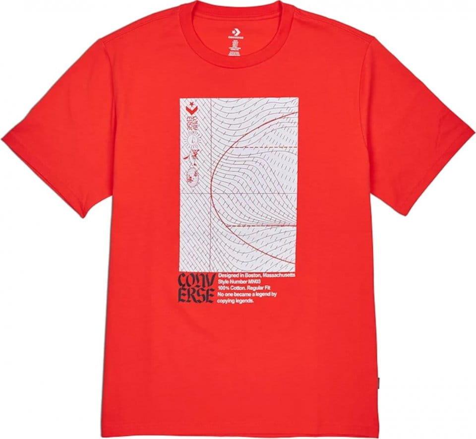 T-shirt Converse Converse Warped Court TEE M