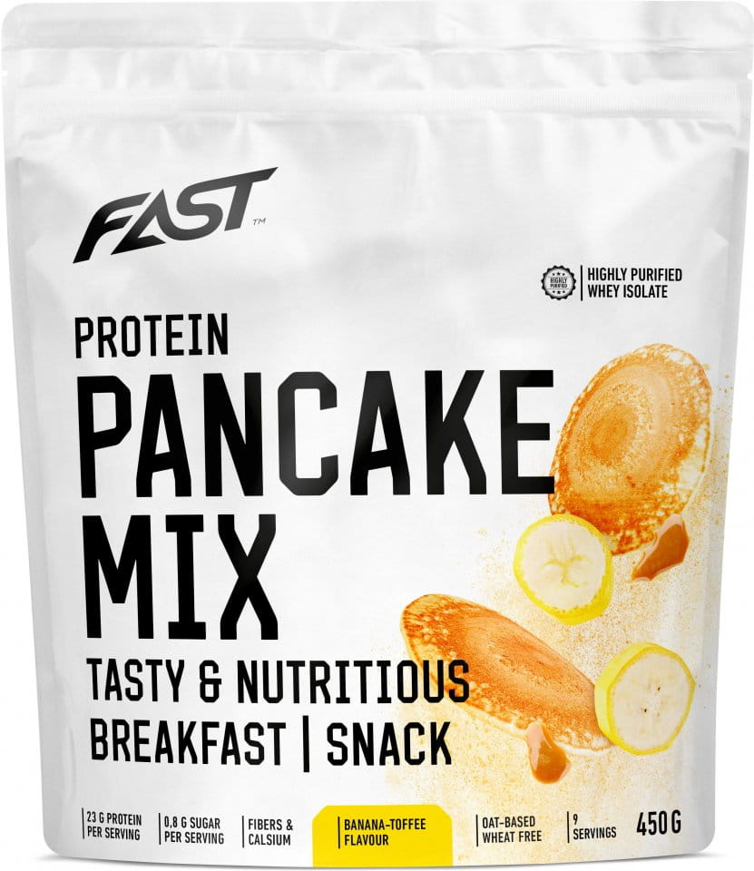 Powder FAST FAST PRO PANCAKE MIX 450G - banana-toffee