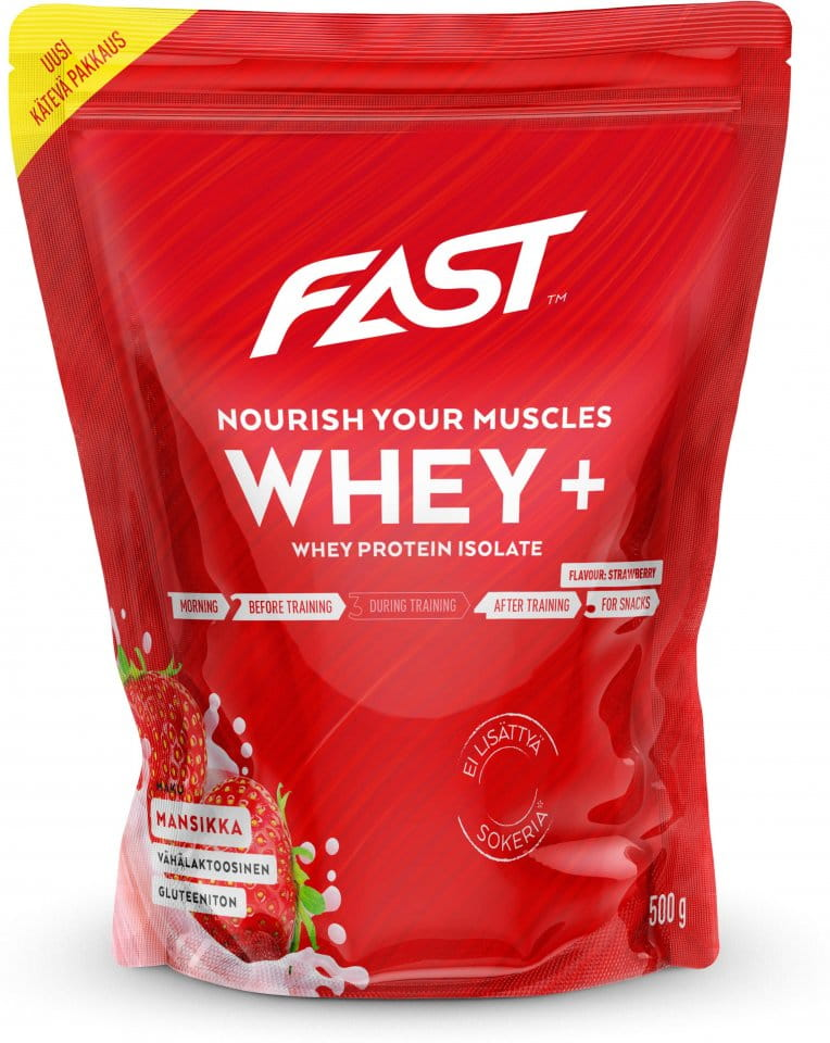 Prášok FAST Whey+ 500 g strawberry