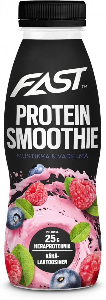 Bautura FAST Natural Protein Smoothie blueberry-raspberry 330 ml
