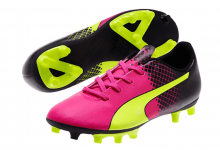 evoSPEED 5-5 FG Jr pink glo-safety yello
