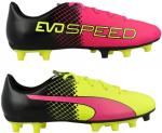 evoSPEED 5-5 FG Jr pink glo-safety yello