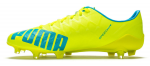 Kopačky Puma evoSPEED SL-S FG safety yellow-atomic bl – 3