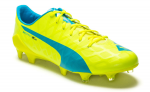 Kopačky Puma evoSPEED SL-S FG safety yellow-atomic bl – 5