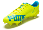 Kopačky Puma evoSPEED SL-S FG safety yellow-atomic bl – 6