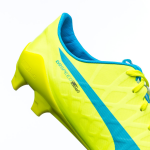 Kopačky Puma evoSPEED SL-S FG safety yellow-atomic bl – 9