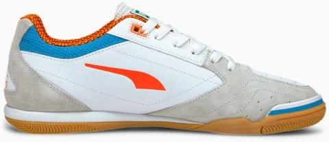 Puma IBERO II Sala IT Halle Weiss Blau Orange F01 Teremcipők