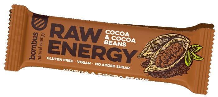 Tyčinka Bombus BOMBUS Raw energy - Cocoa beans50g