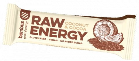 BOMBUS Raw energy - Coconut+Cocoa 50g