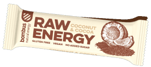 Tyčinka Bombus BOMBUS Raw energy - Coconut+Cocoa 50g