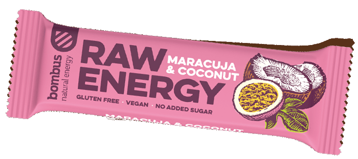 Tyčinka Bombus Raw Energy Maracuja + coconut 50g