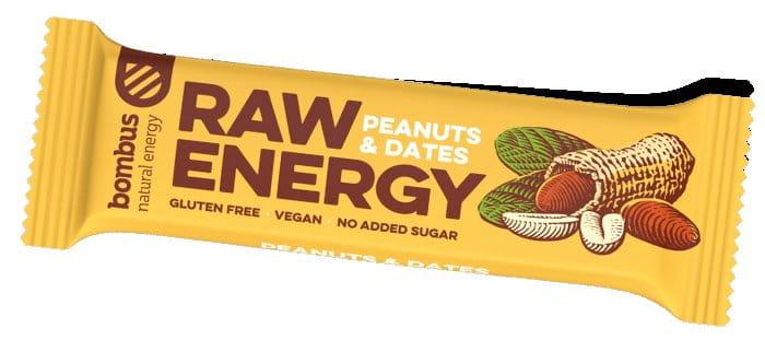 Tyčinka Bombus BOMBUS Raw energy - Peanuts+Dates 50g