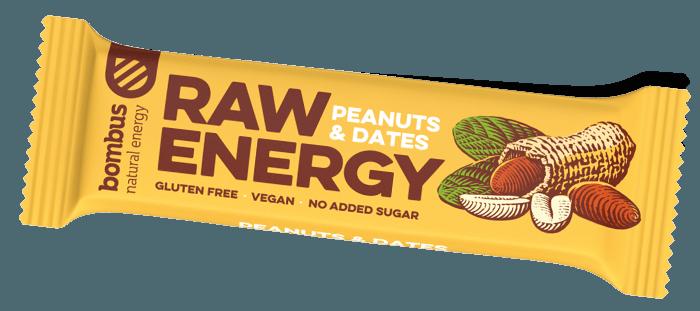Barra Bombus BOMBUS Raw energy - Peanuts+Dates 50g