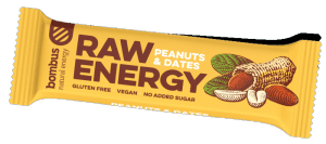 BOMBUS Raw energy - Peanuts+Dates 50g