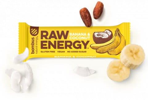 Bombus BOMBUS RAW ENERGY Banana&Coconut 50g Szelet