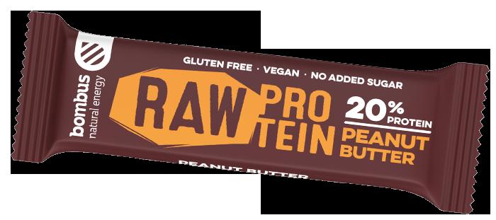 Bombus BOMBUS Raw protein-Peanut butter 50g Szelet