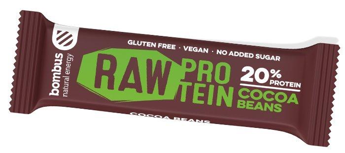 Proteinová tyčinka Bombus Raw Protein Kakaové boby