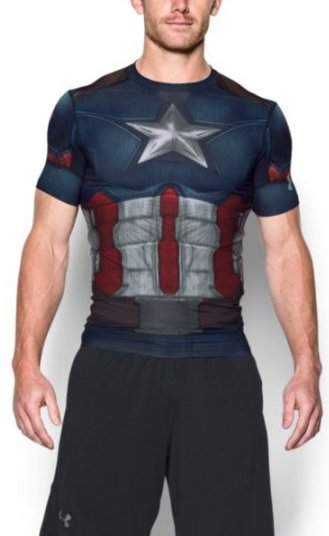 Kompresné tričko Under Armour Under Armour Captain America Suit SS