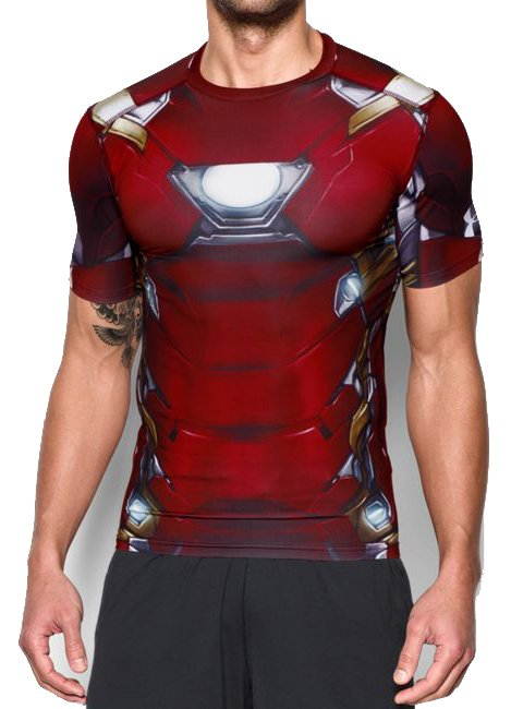 Kompresné tričko Under Armour Under Armour Iron Man Suit SS