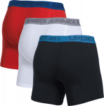 Boxerky Under Armour Cotton Stretch 6'' 3 Pack