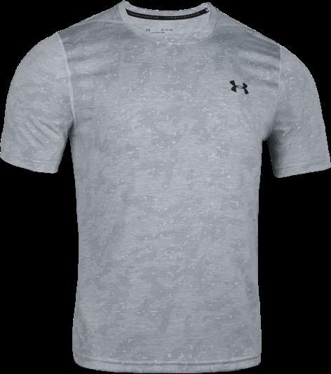 Pánské triko s krátkým rukávem UA Fitted Threadborne Printed
