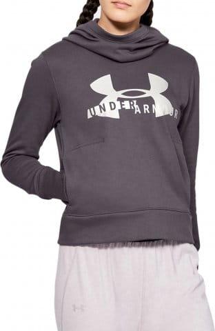 Mikina s kapucí Under Armour Cotton Fleece Sportstyle Logo hoodie-Gra